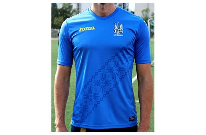 Футболка футбольная синяя Joma сборной Украины (реплика)