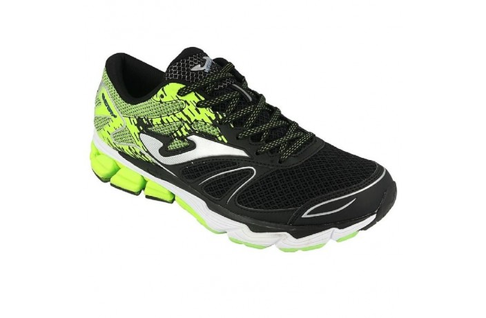 Кроссовки спортивные (для бега) черно-зеленые Joma VICTORY