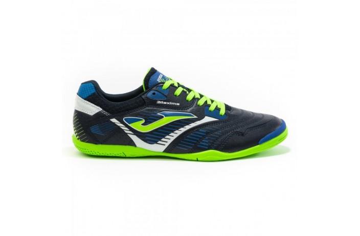 Обувь для зала (футзалки, бампы) т. сине-салатовые Joma MAXIMA