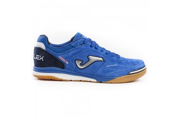 Обувь для зала (футзалки, бампы) синяя Joma TOP FLEX NOBUCK
