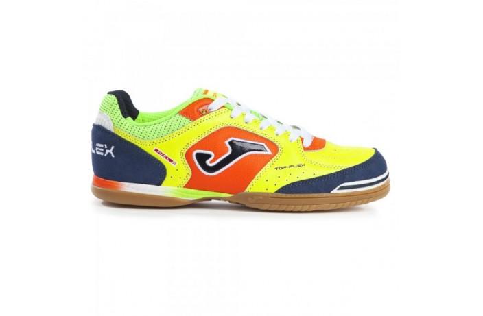 Обувь для зала (футзалки, бампы) желто-синяя Joma TOP FLEX