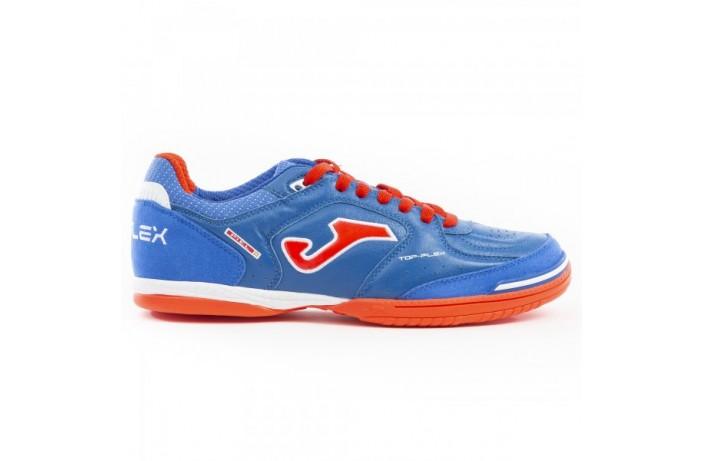 Обувь для зала (футзалки, бампы) сине-оранжевая Joma TOP FLEX