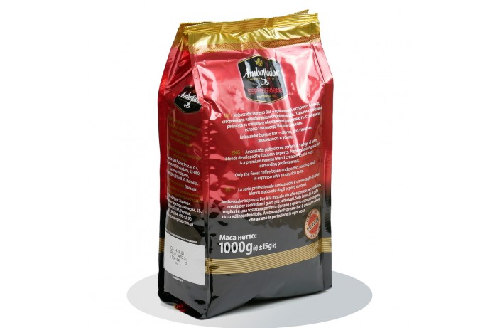 Ambassador Espresso Bar, кофе зерновой 1 кг. Оригинал