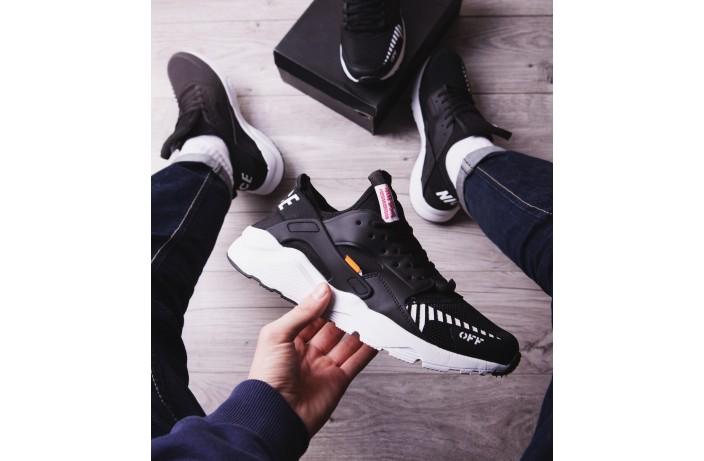 Мужские кроссовки Найс ОФФ (черные)