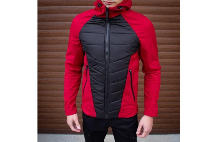 Мужская куртка Rafael (бордово-черная)