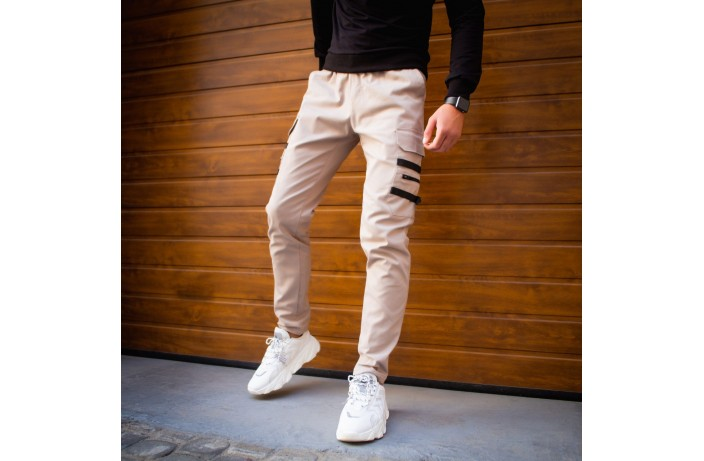 Мужские штаны Mezhigorye (бежевые)
