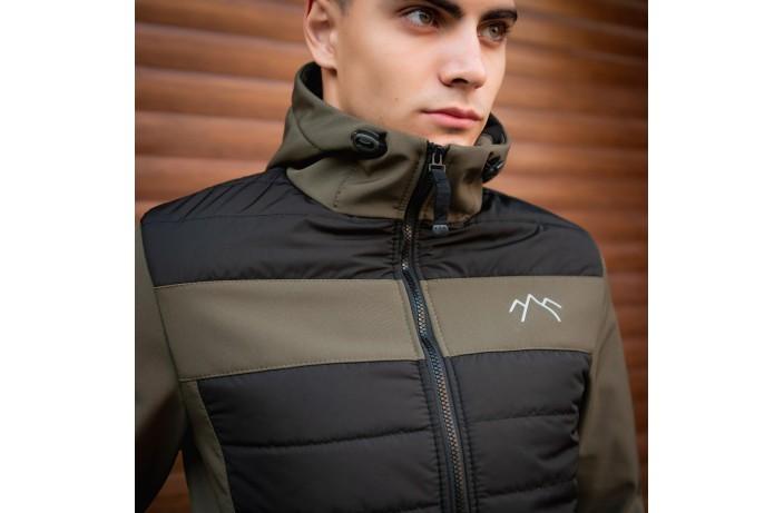 Мужская куртка Harvest (черная с вставкой хаки)