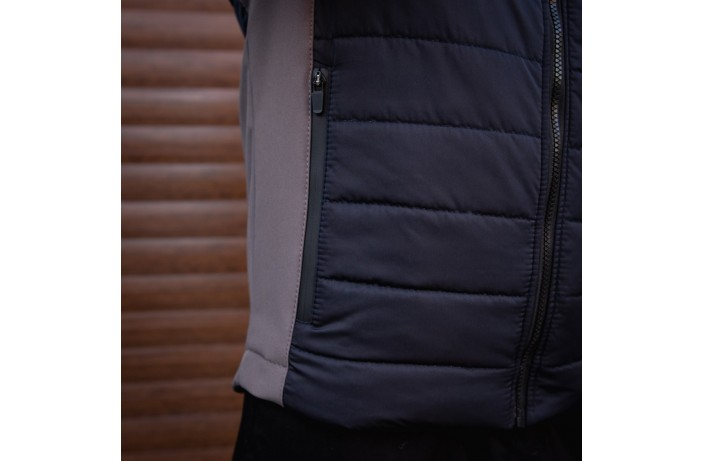 Мужская куртка Harvest (синяя с серой вставкой)