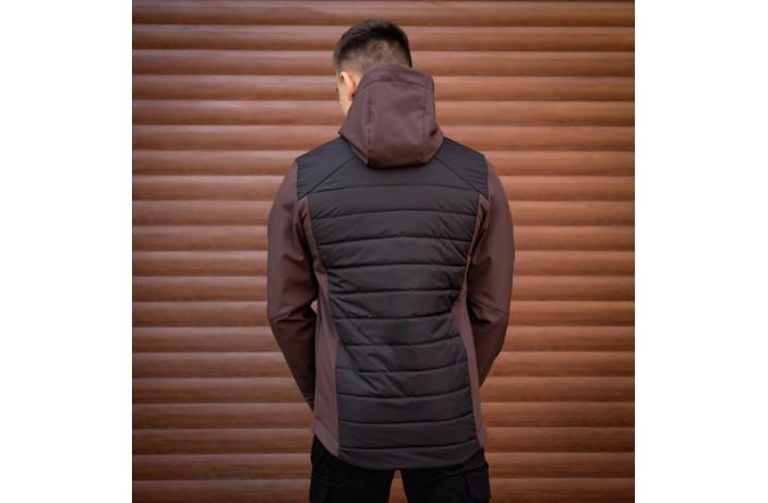 Мужская куртка Harvest (черная с вставкой коричневым)