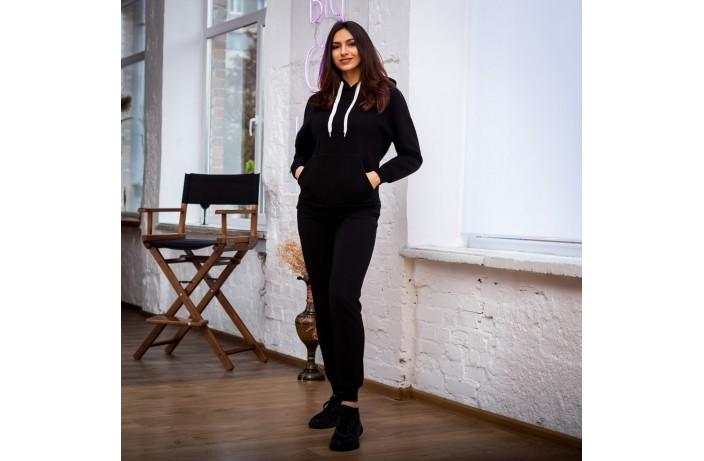 Спортивные женские зимние штаны (черные)