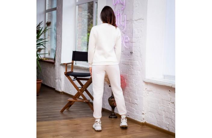 Спортивные женские зимние штаны (молочные)