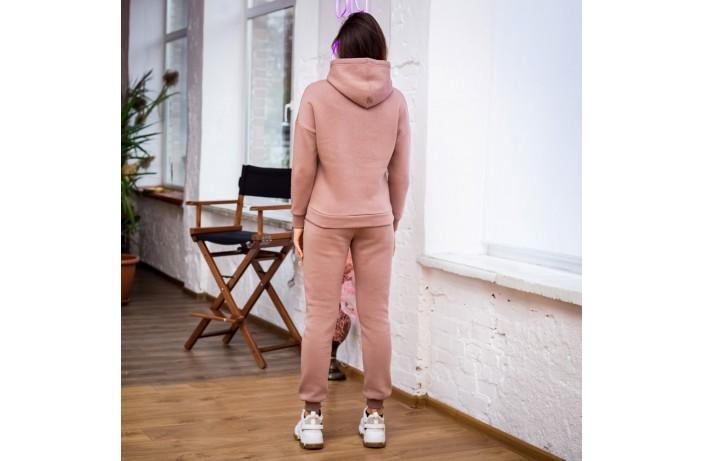 Спортивные женские зимние штаны (бежевые)