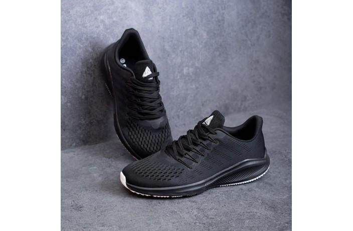 Мужские кроссовки Стили Заир (черные с белой подошвой)