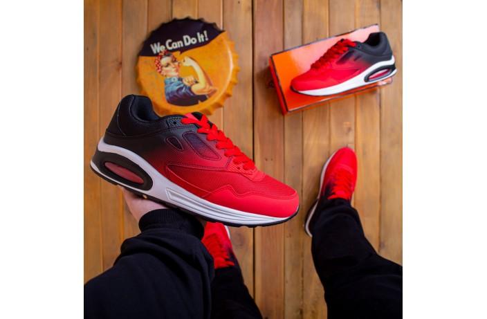 Мужские кроссовки Ривал 87 (черно-красные)