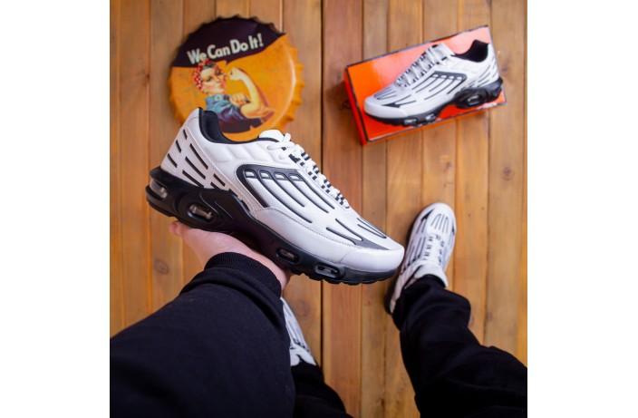 Мужские кроссовки Ривал Билл ТН (белые с черной вставкой)