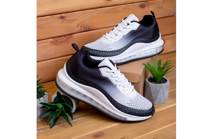 Мужские кроссовки Аспид 720 (черно-белые)