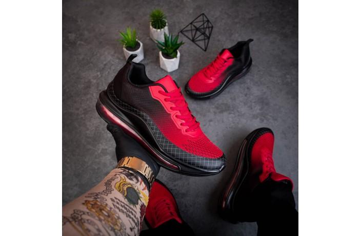 Мужские кроссовки Аспид 720 (черно-красные)