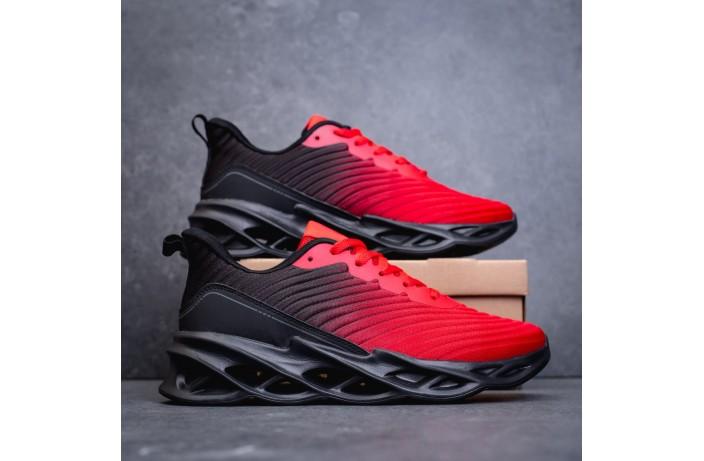 Мужские кроссовки Грот реберу (красно-черные)