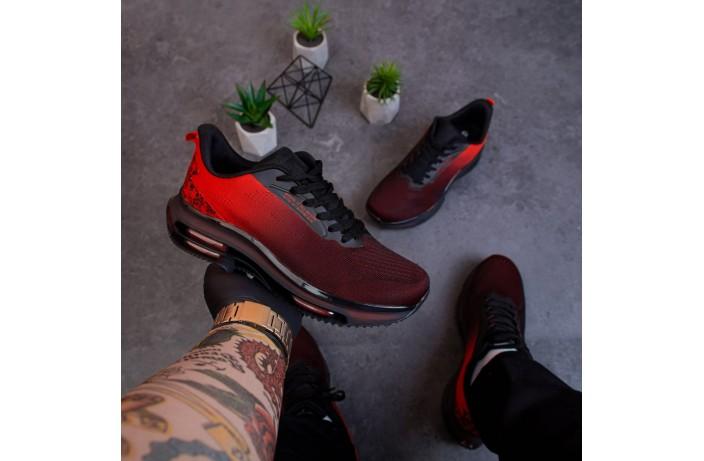 Мужские кроссовки Дифено Wild Rose (черно-красные)