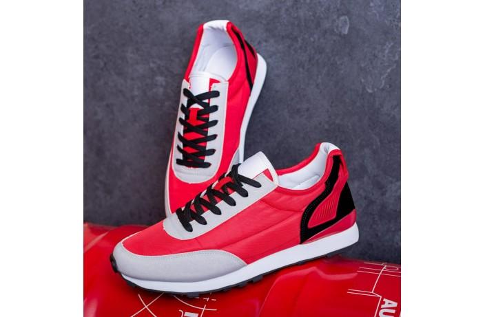 Мужские кроссовки Крос Мид Гранд (красно-серые)
