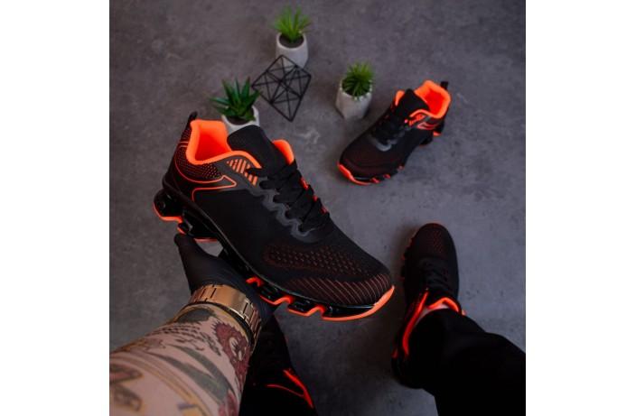 Мужские кроссовки Дифено Пента ОФФ (черно-оранжевые)
