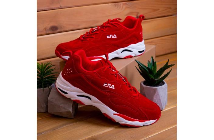 Мужские кроссовки Ена буст (красные)