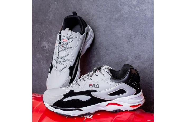 Мужские кроссовки Ена буст (серо-черные)
