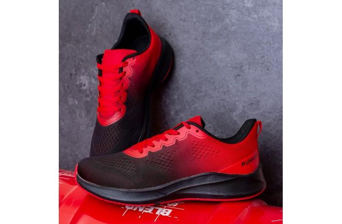 Мужские кроссовки  Дифено Ранер  (красно-черные)