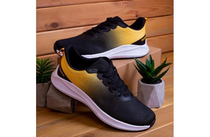 Мужские кроссовки  Дифено Ранер  (черно-желтые)