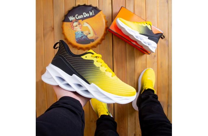 Мужские кроссовки Грот реберу (желто-черные)