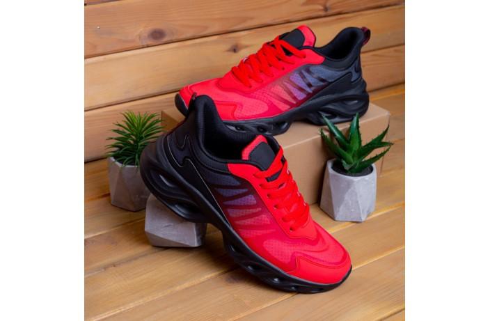 Мужские кроссовки Горацио  (красно-черные)