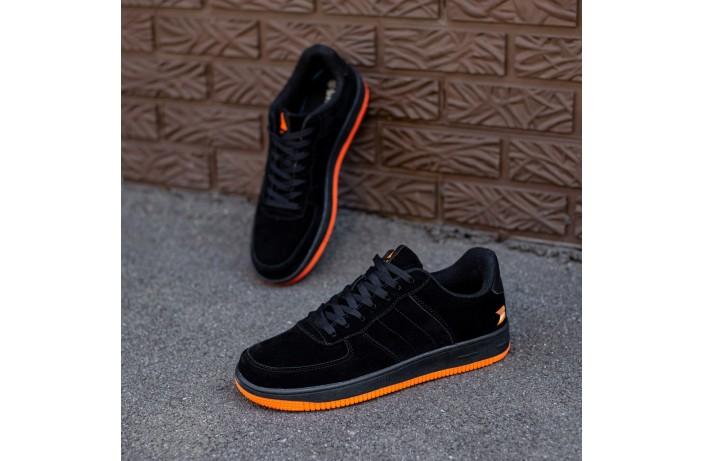 Мужские кроссовки Стилли форс замш (черные)