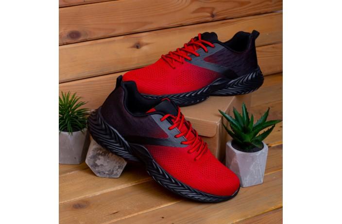 Мужские кроссовки Ривал Пикок (красно-черные)