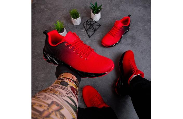 Мужские кроссовки Ривал Спайс (красно-черные)