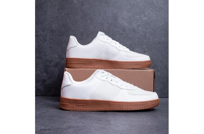 Мужские кроссовки Стилли Форс (бело-рыжие)