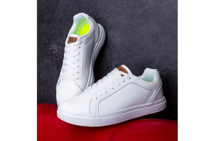 Мужские кроссовки Стилли Форс Гучи (белые)