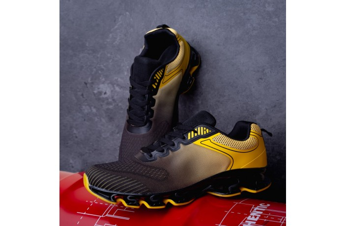 Мужские кроссовки  Дифено Пента ОФФ (черно-желтые)