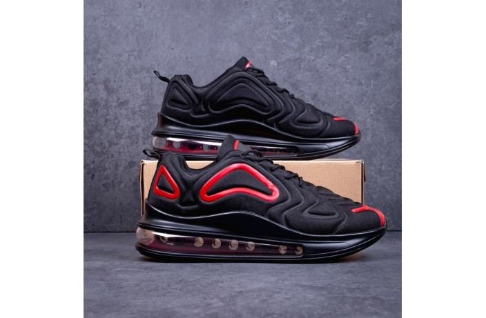 Мужские кроссовки  Бастер Арт 720 (черно-красные)