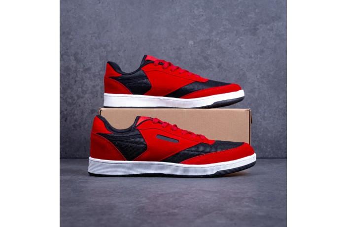 Мужские кроссовки Форест Бута (черно-красные)