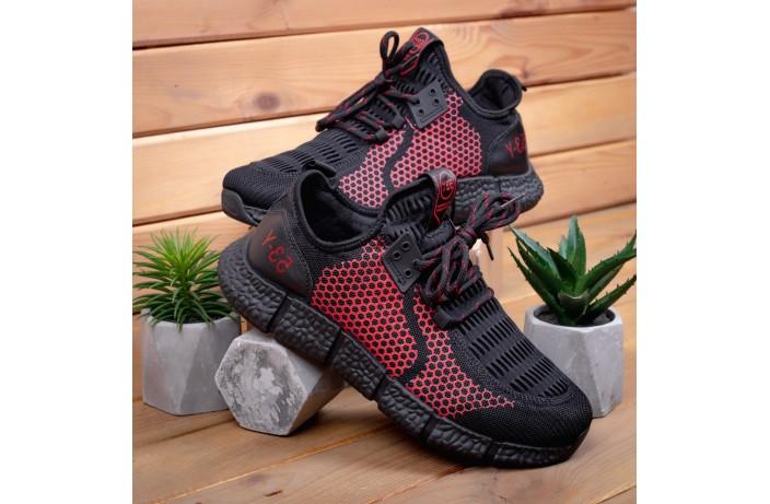 Мужские кроссовки Вервольф (черно-красные)
