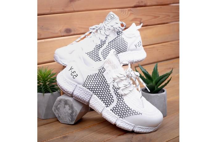 Мужские кроссовки Вервольф (белые с черной вставкой)