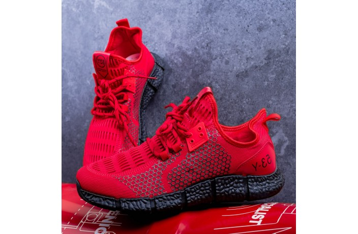 Мужские кроссовки Вервольф (красные)