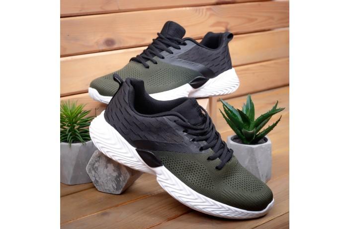 Мужские кроссовки Ривал Пикок (хаки-черные)
