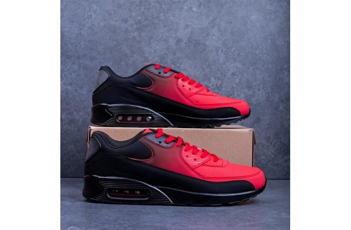 Мужские кроссовки Ривал 90 (черно-красные)
