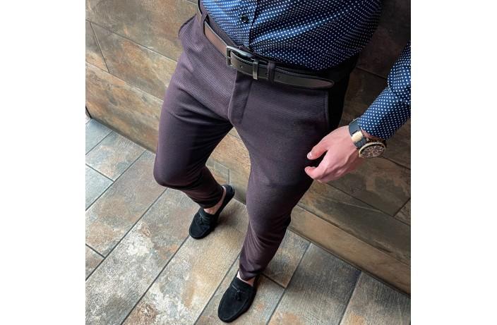 Мужские штаны 100% (бордовый)