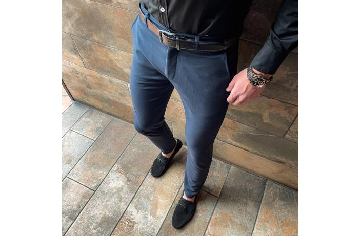 Мужские штаны 100% (синий)