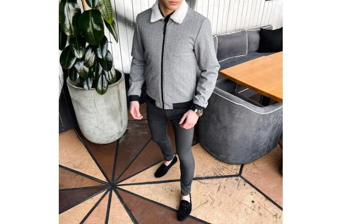 Мужская куртка St.Tropez (серая – ёлочка)