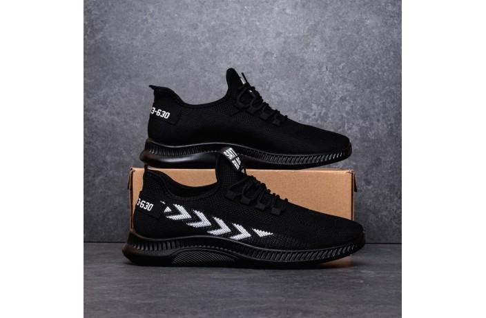Мужские кроссовки крос Янг Эров (черные с белой полосой)