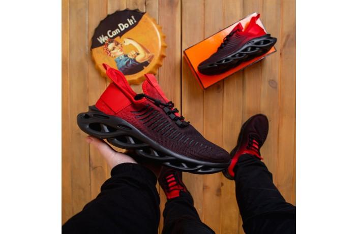 Мужские кроссовки Ривал Грот (черно-красные)