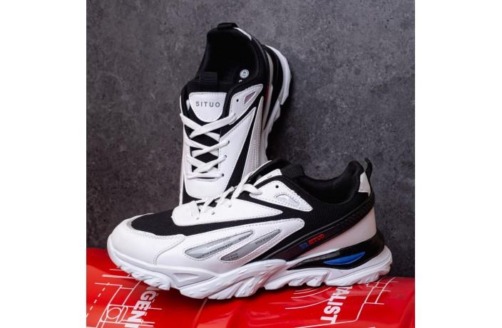 Мужские кроссовки Ситао Плюс Рефлектив (черно-белые)